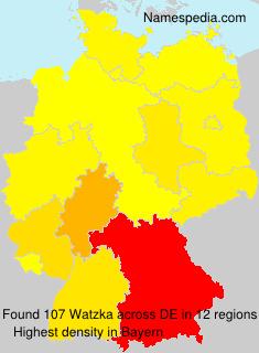 Surname Watzka in Germany