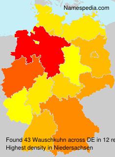 Surname Wauschkuhn in Germany