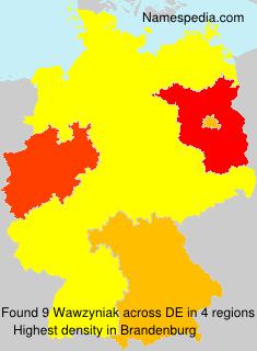Surname Wawzyniak in Germany