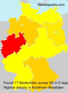 Familiennamen Wederhake - Germany