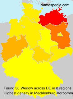 Familiennamen Wedow - Germany
