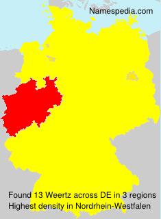 Familiennamen Weertz - Germany