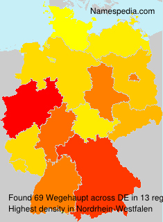 Surname Wegehaupt in Germany