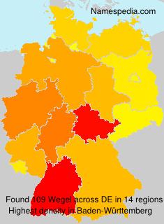 Surname Wegel in Germany