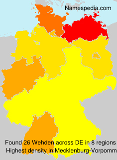 Surname Wehden in Germany