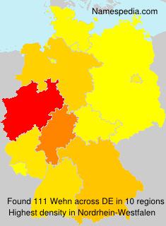 Surname Wehn in Germany