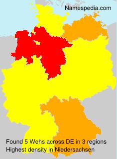 Familiennamen Wehs - Germany
