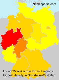 Surname Wei in Germany