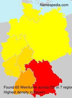 Familiennamen Weinfurter - Germany