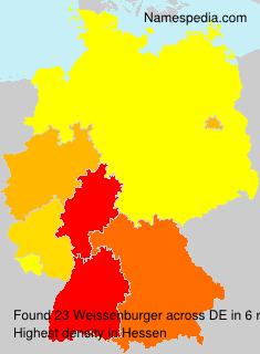Familiennamen Weissenburger - Germany