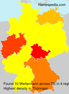 Surname Weitermann in Germany