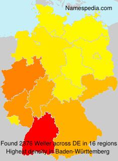 Surname Weller in Germany