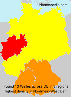 Surname Welles in Germany