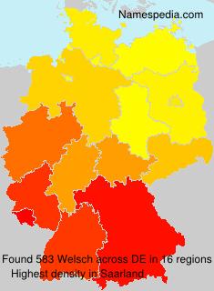Familiennamen Welsch - Germany