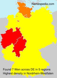 Familiennamen Wen - Germany