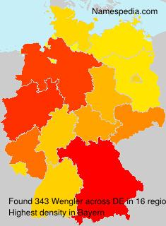 Surname Wengler in Germany