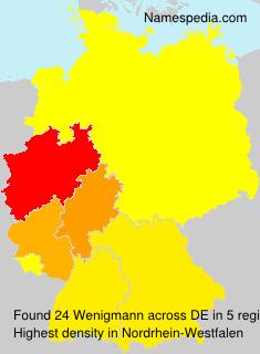 Familiennamen Wenigmann - Germany