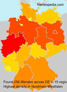 Surname Wenske in Germany
