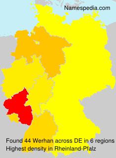 Familiennamen Werhan - Germany