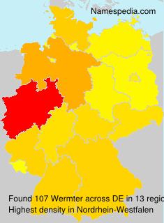 Surname Wermter in Germany