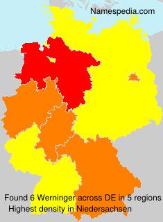 Surname Werninger in Germany