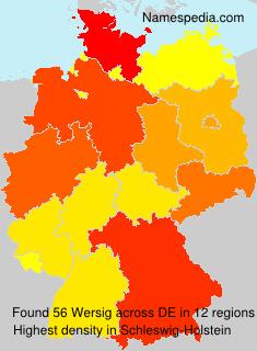 Familiennamen Wersig - Germany