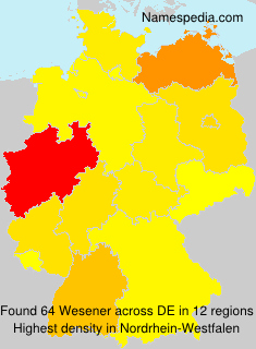 Surname Wesener in Germany