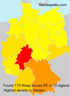 Familiennamen Wesp - Germany