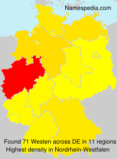 Surname Westen in Germany