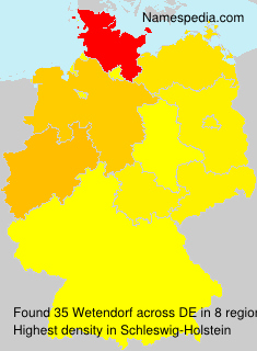 Familiennamen Wetendorf - Germany