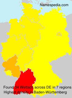 Familiennamen Wettach - Germany