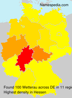 Surname Wetterau in Germany