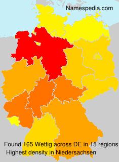 Surname Wettig in Germany