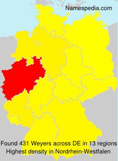 Surname Weyers in Germany