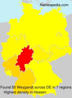 Familiennamen Weygandt - Germany
