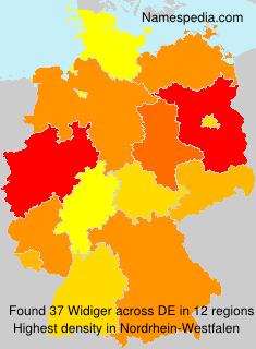 Surname Widiger in Germany