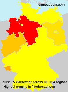 Surname Wiebrecht in Germany