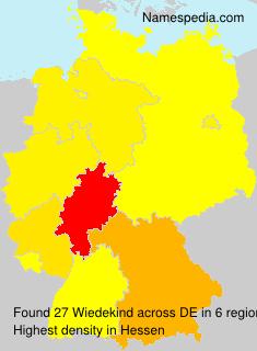 Surname Wiedekind in Germany