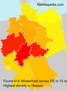 Surname Wiederhold in Germany