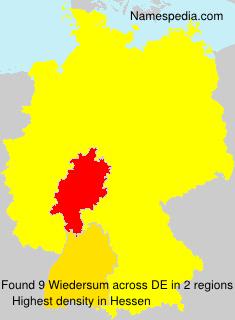 Surname Wiedersum in Germany