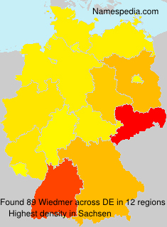 Surname Wiedmer in Germany