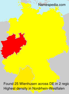 Surname Wienhusen in Germany