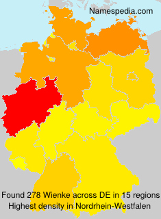 Surname Wienke in Germany