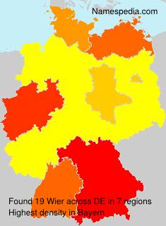 Familiennamen Wier - Germany