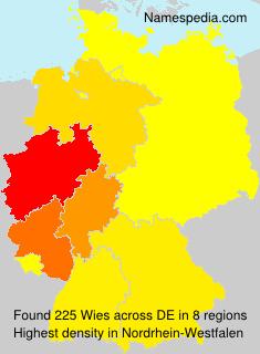 Familiennamen Wies - Germany
