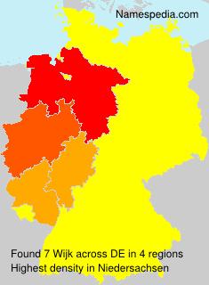 Surname Wijk in Germany