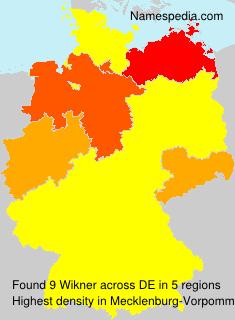 Surname Wikner in Germany
