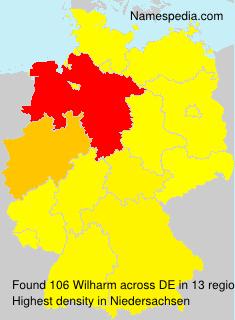 Familiennamen Wilharm - Germany