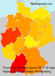 Familiennamen Winckler - Germany