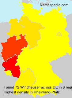Surname Windheuser in Germany
